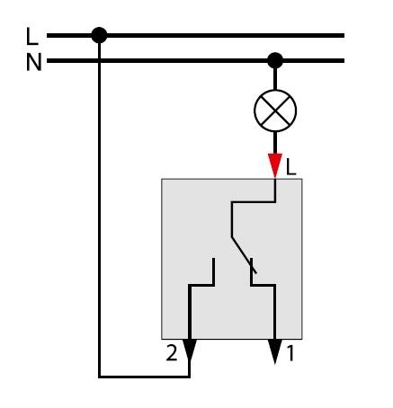 Как сделать параллельный выключатель на одну лампочку